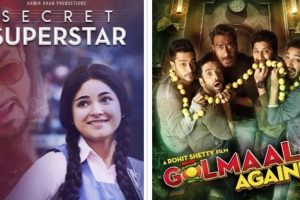 'Secret Superstar' to clash with 'Golmaal Again'