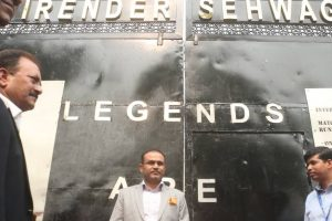 Photos: Feroz Shah Kotla Stadium's Gate No. 2 named after Virender Sehwag