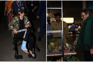 Airport diaries: Kangana arrives on wheelchair, Subhash Ghai buys plants