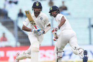 Kolkata Test: Shanaka, Pujara & rain rule Day 2 at Eden Gardens