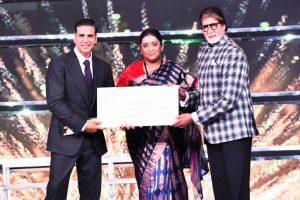 Amitabh Bachchan thanks Smriti Irani
