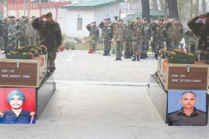 Army pays tributes to soldiers martyred in Kupwara operations