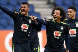 Photos: Neymar, Gabriel Jesus train in Paris with Brazilian team