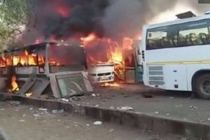 Five buses burnt in Delhi fire