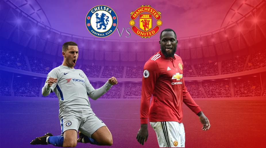 Chelsea vs Manchester United, Eden Hazard, Romelu Lukaku, Chelsea F.C., Manchester United F.C., Premier League