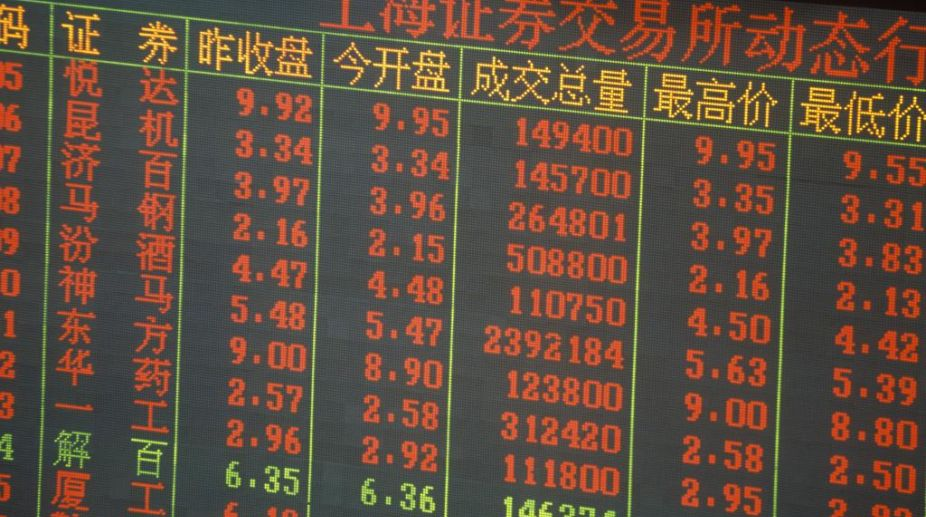 Chinese stocks, Asian markets, Shenzhen Component Index, Shanghai Composite Index