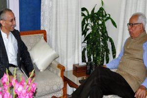 Dineshwar Sharma meets Governor NN Vohra