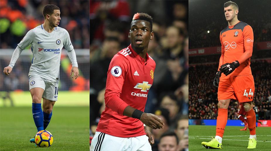 Eden Hazard, Paul Pogba, Frasfer Forster, Chelsea F.C., Manchester United F.C., Premier League, Fantasy Premier League