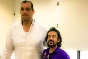 Adnan Sami meets 'lovely guy' The Great Khali