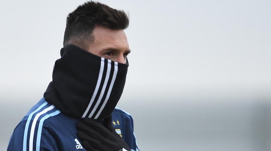 Lionel Messi, Argentina Training