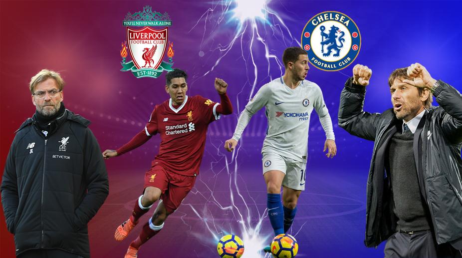 Liverpool vs Chelsea, Premier League, Antonio Conte, Eden Hazard, Roberto Firmino, Jurgen Klopp, Chelsea F.C., Liverpool F.C.