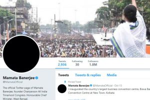 On first DeMo anniversary, Mamata Banerjee Twitter DP goes black