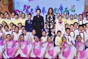 US First Lady Melania Trump visits school in Beijing