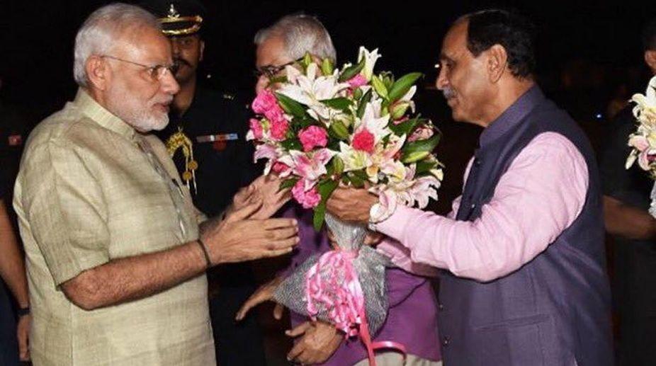 Prime Minister, Narendra Modi, Gujarat Chief Minister, Vijay Rupani