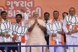 PM Narendra Modi to address four rallies in poll-bound Gujarat today