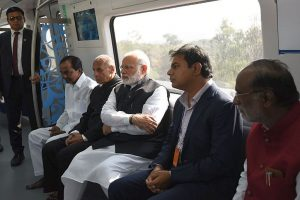 PM Modi inaugurates first phase of Hyderabad Metro
