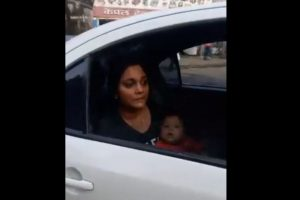 Mumbai traffic cop suspended for towing away car with woman, baby sitting inside