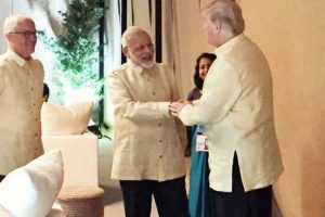PM Narendra Modi briefly meets Trump, world leaders at ASEAN gala dinner