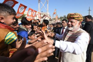 Guj poll is contest between trust on development, dynastic politics: PM Modi