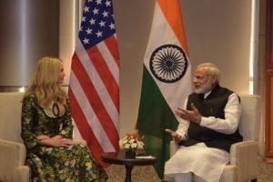 PM Modi meets Ivanka Trump ahead of GES 2017 inauguration
