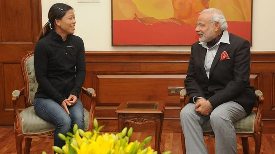 Prime Minister, Narendra Modi, MC Mary Kom