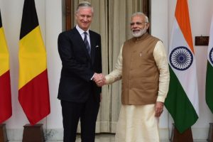 Prime Minister Modi meets Belgian King Phillipe