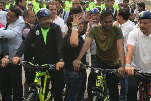 Union Minister Dharmendra Pradhan leads 5-km 'green' Cyclothon