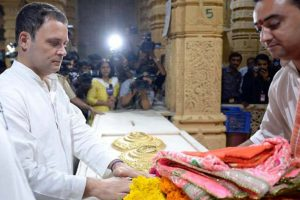 Congress alleges conspiracy to defame Rahul after Somnath temple visit