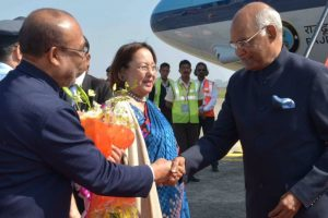 President Kovind in Manipur amid general strike