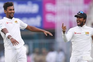 Kolkata Test: Suranga Lakmal rocks India's top-order on rain-hit Day 1