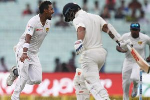 Kolkata Test: Lakmal claims 3 wkts before bad light forces stumps on Day 1