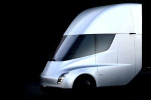 "Tesla unveils all-electric semi truck, promotes ""green"" transportation"