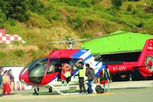 Vaishnodevi helicopter service popular among pilgrims