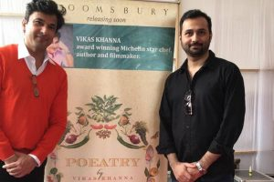 Vikas Khanna unveils cover of his new book 'Poeatry'