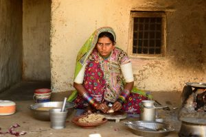 Way to clean cooking in village households