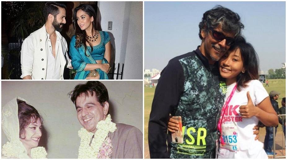 Shahid Kapoor, Mira Rajput, Ankita Konwar, Milind Soman, Dilip Kumar, Saira Banu