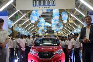 Datsun rolls out 1,00,000th car from partnered Renault's Chennai plant