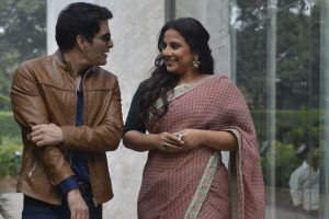 Tumhari Sulu's Vidya Balan steps out for promotions with on screen husband