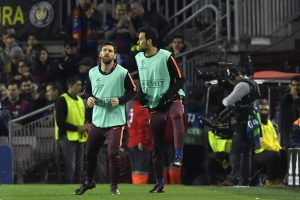 Barcelona's Sergio Busquets back at training ahead of Roma clash