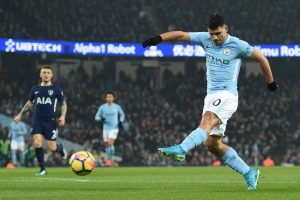 Manchester City's Sergio Aguero routs Leicester with 4 goals