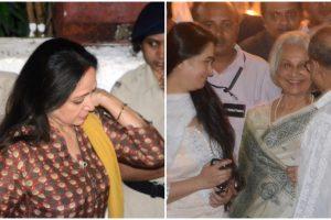 Waheeda Rehman, Hema Malini at Shashi Kapoor's condolence meet