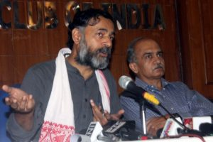 No chance of returning to AAP, say Yogendra Yadav, Prashant Bhushan