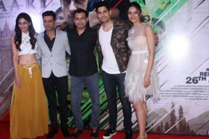 Sidharth Malhotra, Manoj Bajpayee at the trailer launch of 'Aiyaary'