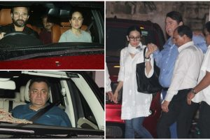 Shashi Kapoor cremated; Karisma, Kareena, Rishi Kapoor at his residence