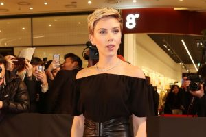 Scarlett Johansson's cinema outing with former husband