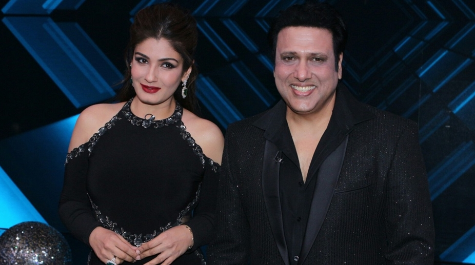 Mumbai actors raveena tandon and govinda on the sets of dance raveena tandon govinda shilpa shetty altavistaventures Choice Image