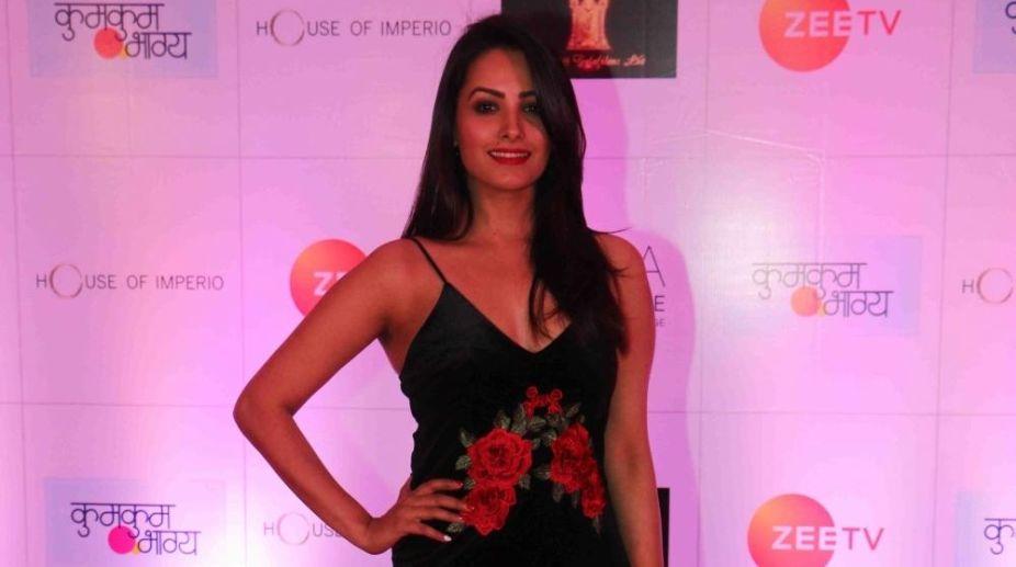 Mumbai: Actress Anita Hassanandani at the producer Ekta