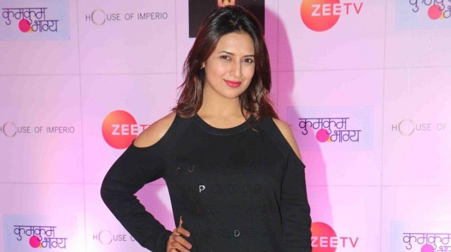 Mumbai: Actress Divyanka Tripathi at the producer Ekta