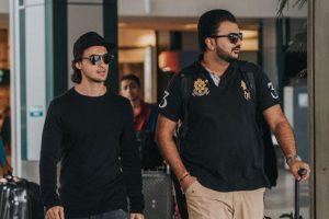 Aayush Sharma, Abhiraj Minawala spotted at airport post recce