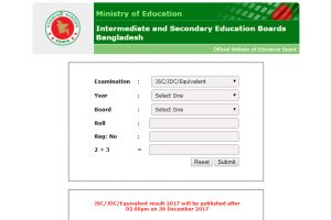JSC results, JDC results 2017 for all BD Education Board announced at www.educationboardresults.gov.bd | Bangladesh Results re-scrutiny date, Passing Percent released